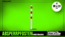 Absperrpfosten Ø 89 x 2, 9 mm