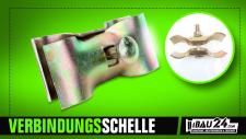 Verbindungsschelle / Bauzaunschelle / Mobilzaunschelle