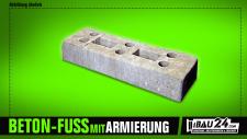Bauzaunfuß / Mobilzaunfuß Beton mit Armierung