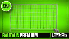 Bauzaun Premium inkl. Betonstein und Verbinder 20er Set