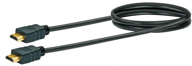SCHWAIGER -HDM0070 043- High-Speed-HDMI-Kabel mit Ethernet HDMI-Stecker zu HDMI-Stecker, Schwarz
