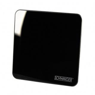 SCHWAIGER -ZA8970 011- DVB-T2 HD Zimmerantenne (aktiv) für den Empfang von UKW, VHF, UHF, Schwarz