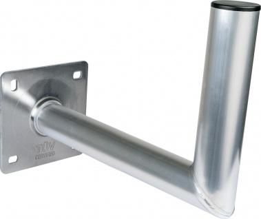 SCHWAIGER -WAH35A 001- Aluminium Wandhalter (350 mm) mit Kunststoffkappe, Silber