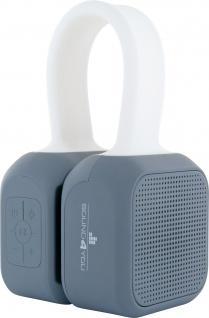 SCHWAIGER -661699- Bluetooth Stereo Lautsprecher, Weiß/Grau