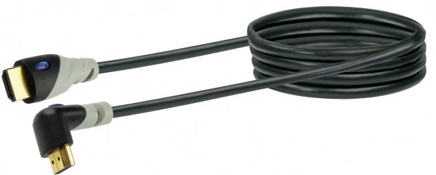 SCHWAIGER -HDMW30 533- High-Speed-HDMI-Kabel mit Ethernet HDMI-Winkelstecker zu HDMI-Stecker, Schwarz