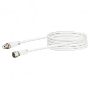 SCHWAIGER -KVCVHQ30 532- SAT Verlängerungskabel (90 dB) F-Stecker zu F-Buchse, Weiß