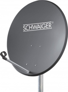 SCHWAIGER -715828- Aluminium Offset Antenne (55 cm), Anthrazit