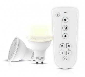 SCHWAIGER -HALSET400- LED Leuchtmittel Set (GU10) als dimmbares Wohnlicht, Smart Home, weiß