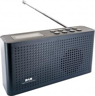 SCHWAIGER -716467- Tragbarer DAB+ Digitalradio, Schwarz