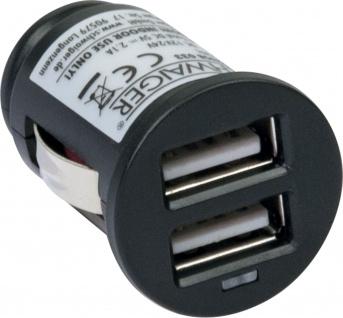 SCHWAIGER -PM02USB 033- USB Ladeadapter (12 V) Der ideale Begleiter im Fahrzeug., Schwarz - Vorschau 2