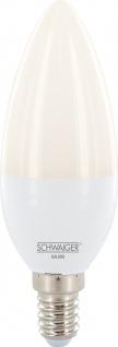 SCHWAIGER -HAL800- LED Leuchtmittel (E14) RGBW Multicolor Light, Smart Home, weiß