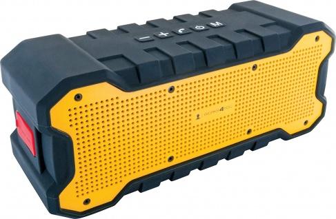 SCHWAIGER -WKLS100 511- Bluetooth Lautsprecher IP67 zertifiziert, Schwarz/Gelb