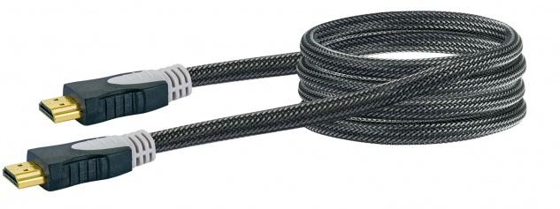 SCHWAIGER -HDM0150G 063- High-Speed-HDMI-Kabel mit Ethernet HDMI-Stecker zu HDMI-Stecker, Schwarz