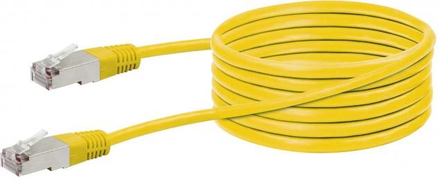 SCHWAIGER -CKY1225 531- CAT 5e Netzwerkkabel (STP) RJ45 Stecker zu RJ45 Stecker, Gelb
