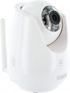 SCHWAIGER -ZHK18- WLAN IP Kamera mit Motorsteuerung, Weiß