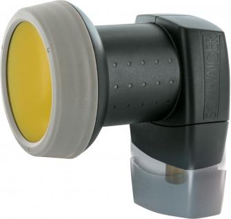 SCHWAIGER -SPS6810A 511- SUN PROTECT - Digitales Single LNB mit vergoldeten Anschlüssen, Anthrazit