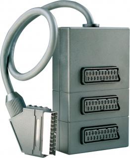 SCHWAIGER -SCV7030 043- 3-fach SCART Verteiler SCART Stecker (21-pol.) > 3 SCART Buchsen(21-pol.)