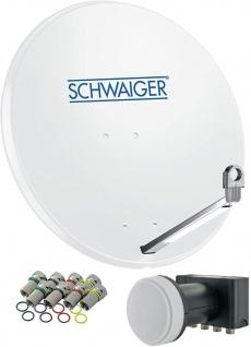 SCHWAIGER -714531- SAT Anlage aus Aluminium, Hellgrau