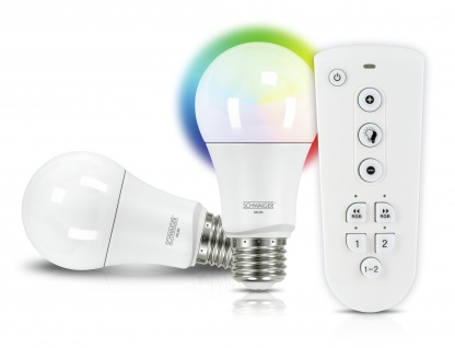 SCHWAIGER -HALSET300- LED Leuchtmittel Set (E27) RGBW Multicolor Light, Smart Home, weiß