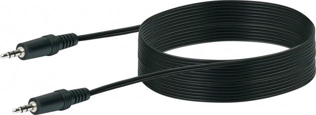 SCHWAIGER -TFS3500 533- AUDIO Anschlusskabel Klinkenstecker (3, 5 mm) > Klinkenstecker (3, 5 mm), Schwarz