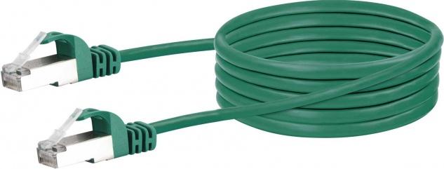 SCHWAIGER -CKB6010 059- CAT 6 Netzwerkkabel (SF/UTP) RJ45 Stecker zu RJ45 Stecker, Grün