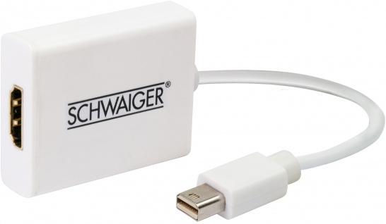 SCHWAIGER -CKDPM 532- HDMI-Mini DisplayPort Adapterkabel, Weiß