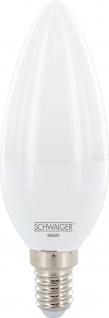 SCHWAIGER -HAL600- LED Leuchtmittel (E14) als dimmbares Wohnlicht, Smart Home, weiß