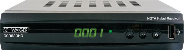 SCHWAIGER -DCR620HD- Full HD Kabelreceiver, Schwarz