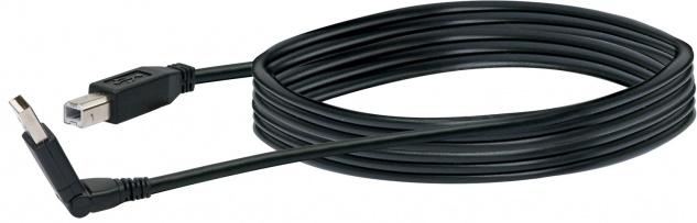 SCHWAIGER -CKS1615 533- USB 2.0 Anschlusskabel 360° USB 2.0 A Stecker zu USB 2.0 B Stecker, Schwarz