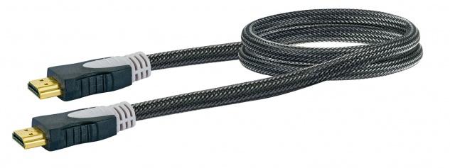SCHWAIGER -HDM0070G 063- High-Speed-HDMI-Kabel mit Ethernet HDMI-Stecker zu HDMI-Stecker, Schwarz