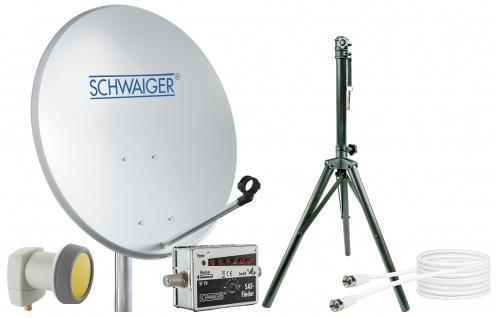 SCHWAIGER -719789- SAT Set, Satelliten Anlage, Hellgrau