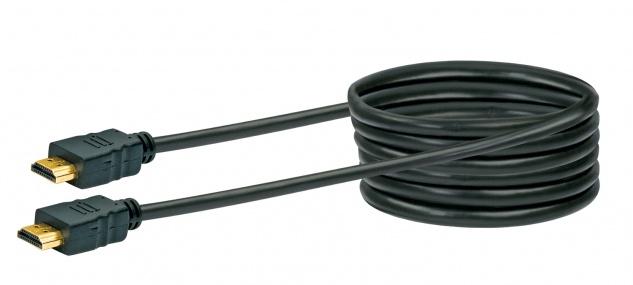 SCHWAIGER -HDM30 533- High-Speed-HDMI-Kabel mit Ethernet, Schwarz