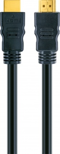SCHWAIGER -HDM100 013- High-Speed-HDMI-Kabel mit Ethernet, Schwarz/Gold - Vorschau 4