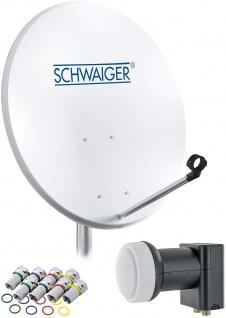 SCHWAIGER -714470- SAT Anlage aus Stahl, Hellgrau