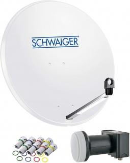 SCHWAIGER -714500- SAT Anlage aus Stahl, Hellgrau