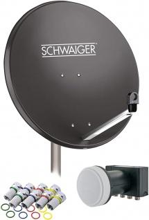 SCHWAIGER -714517- SAT Anlage aus Stahl, Anthrazit