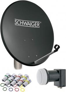 SCHWAIGER -714487- SAT Anlage aus Stahl, Anthrazit