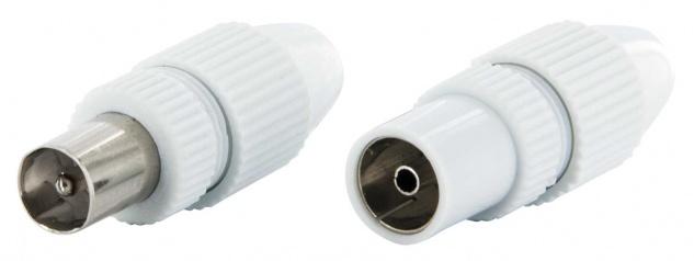 SCHWAIGER -KST3032 532- quickFIX IEC Stecker Set IEC Stecker + IEC Buchse, Weiß
