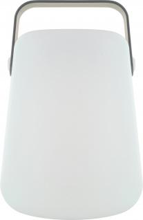 SCHWAIGER -661767- RGB LED Tischleuchte, Weiß/Grau
