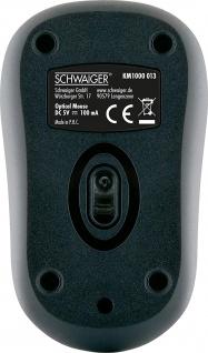 SCHWAIGER -KM1000 013- Optische Computer Maus, Schwarz - Vorschau 3