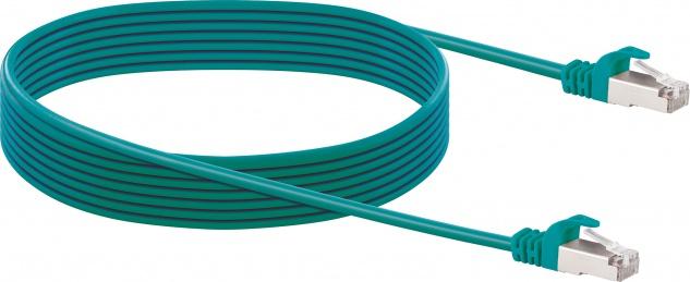 SCHWAIGER -CKG6050 539- Slim Netzwerkkabel (SF/UTP), Grün