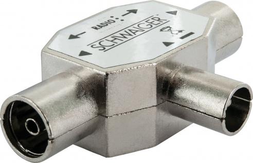 SCHWAIGER -ASV43 531- 2-fach Aufsteckverteiler (Rundfunk) für Kabel- und Antennenanlagen