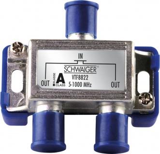 SCHWAIGER -VTF8822 241- 2-fach Verteiler (4 dB) für Kabel- und Antennenanlagen, Violett