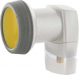 SCHWAIGER -SPS6810H 511- SUN PROTECT - Digitales Single LNB mit vergoldeten Anschlüssen, Hellgrau