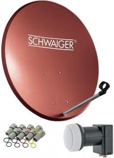 SCHWAIGER -714494- SAT Anlage aus Stahl, Ziegelrot
