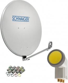 SCHWAIGER -714593- SAT Anlage aus Aluminium, Hellgrau