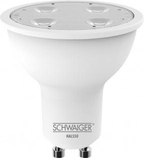 SCHWAIGER -HAL550- LED Leuchtmittel (GU10) RGBW Multicolor Light, Smart Home, weiß