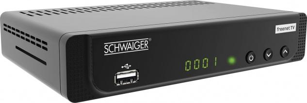 SCHWAIGER -DTR600HD- DVB-T2 HD Receiver, Schwarz