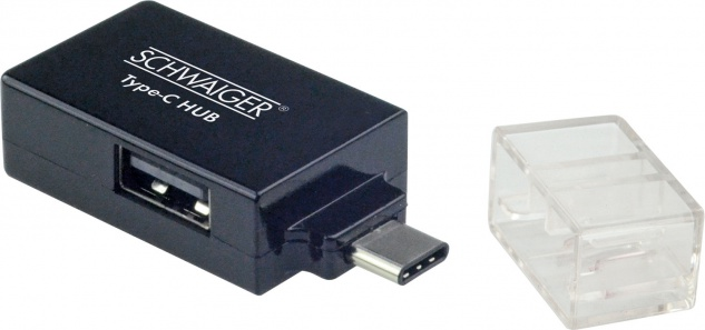 SCHWAIGER -CAU314 533- USB 3.1 Adapter USB 3.1 C Stecker > 2 USB 2.0 A Buchsen + USB 3.0 A Buchse