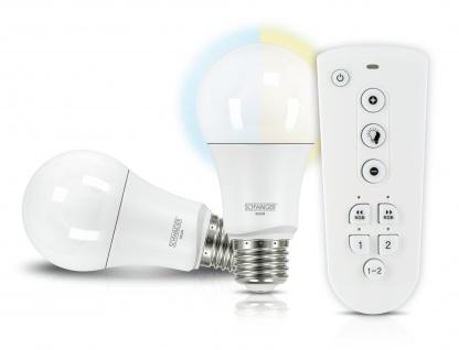 SCHWAIGER -HALSET200- LED Leuchtmittel Set (E27) als dimmbares Akzentlicht, Smart Home, weiß